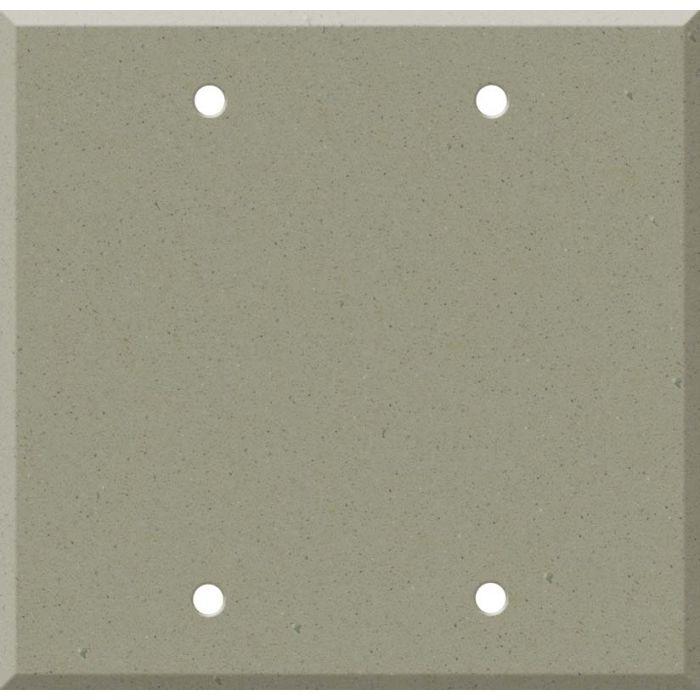 Corian Concrete Double Blank Wallplate Covers