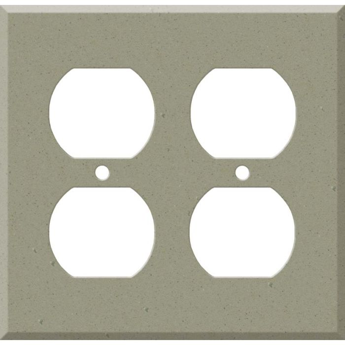Corian Concrete 2 Gang Duplex Outlet Wall Plate Cover