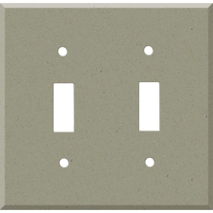 Corian Concrete Double 2 Toggle Switch Plate Covers