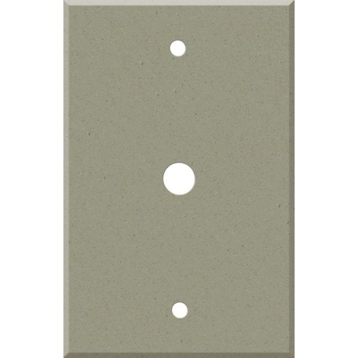 Corian Concrete Coax Cable TV Wall Plates