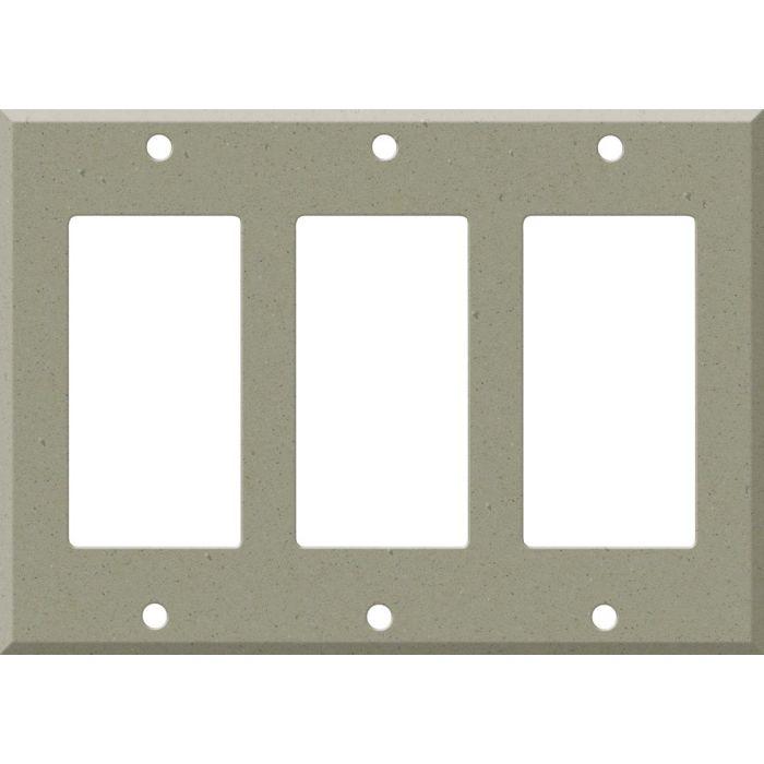 Corian Concrete Triple 3 Rocker GFCI Decora Light Switch Covers