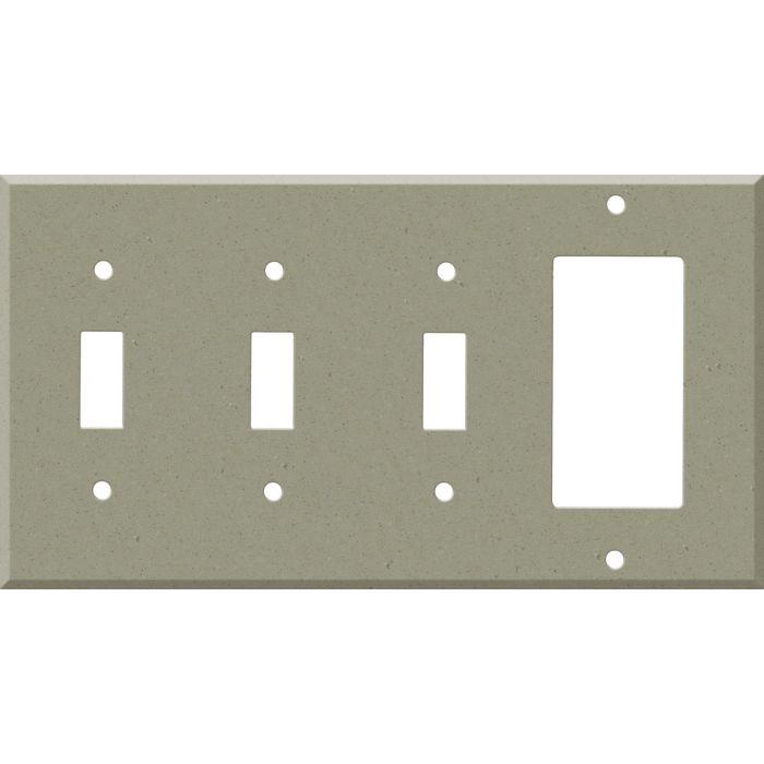 Corian Concrete Triple 3 Toggle / 1 Rocker GFCI Switch Covers