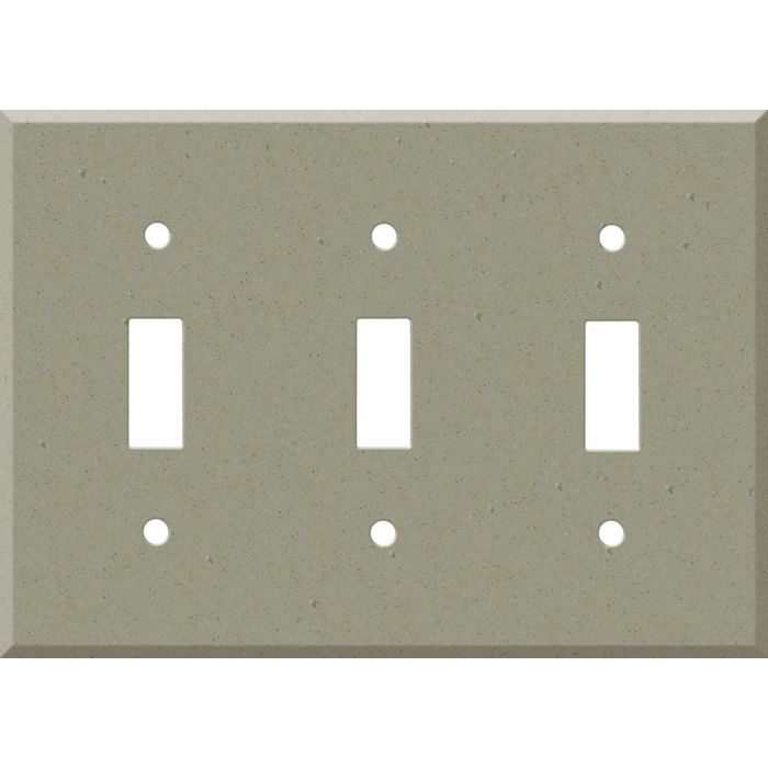 Corian Concrete Triple 3 Toggle Light Switch Covers