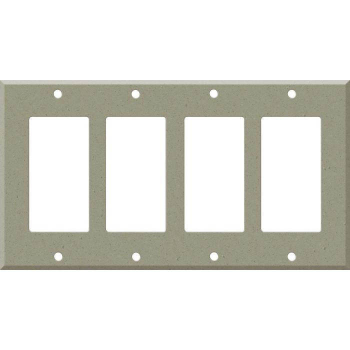 Corian Concrete 4 Rocker GFCI Decorator Switch Plates