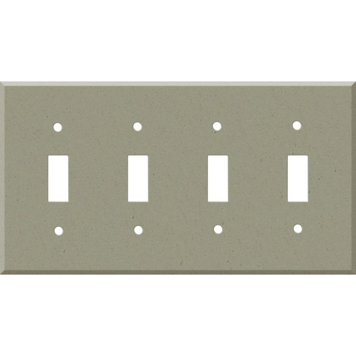Corian Concrete Quad 4 Toggle Light Switch Covers