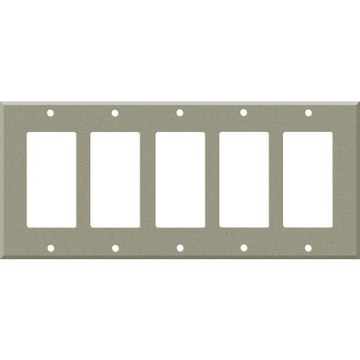Corian Concrete 5 GFCI Rocker Decora Switch Covers