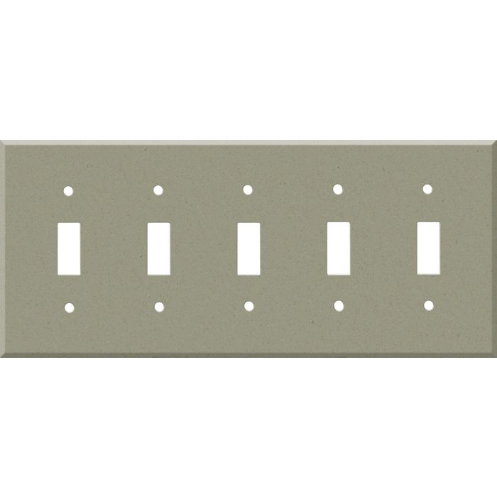 Corian Concrete 5 Toggle Wall Switch Plates
