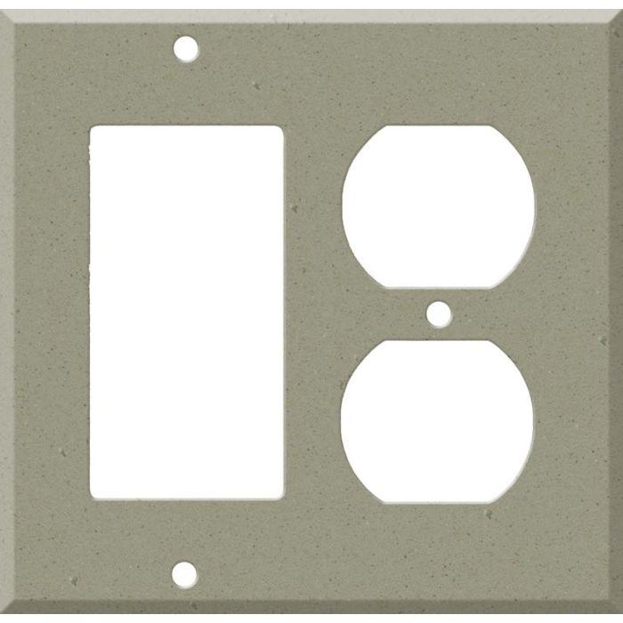 Corian Concrete Combination GFCI Rocker / Duplex Outlet Wall Plates