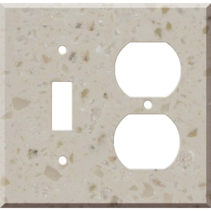 Corian Cottage Lane Combination 1 Toggle / Outlet Cover Plates