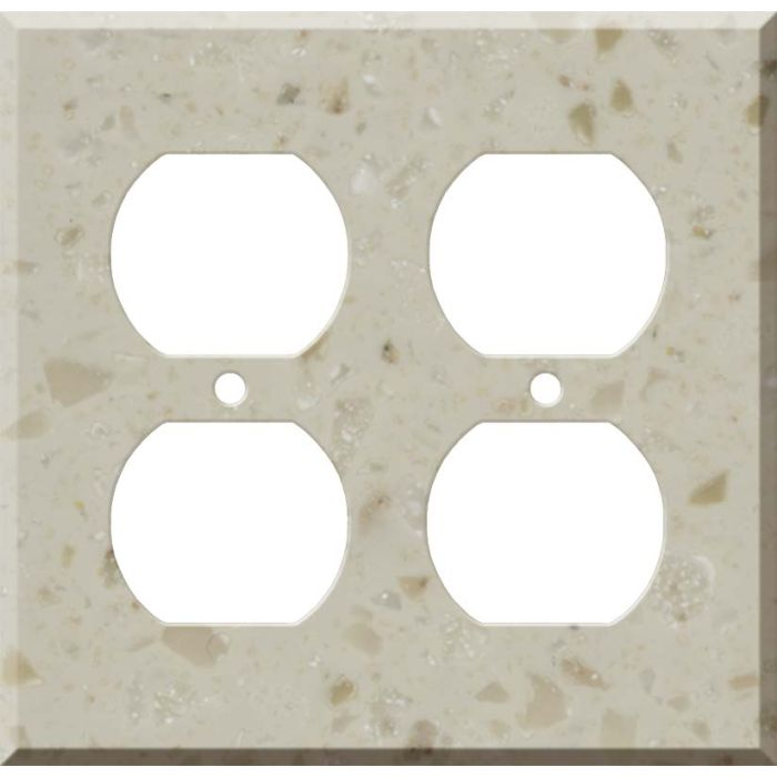 Corian Cottage Lane 2 Gang Duplex Outlet Wall Plate Cover