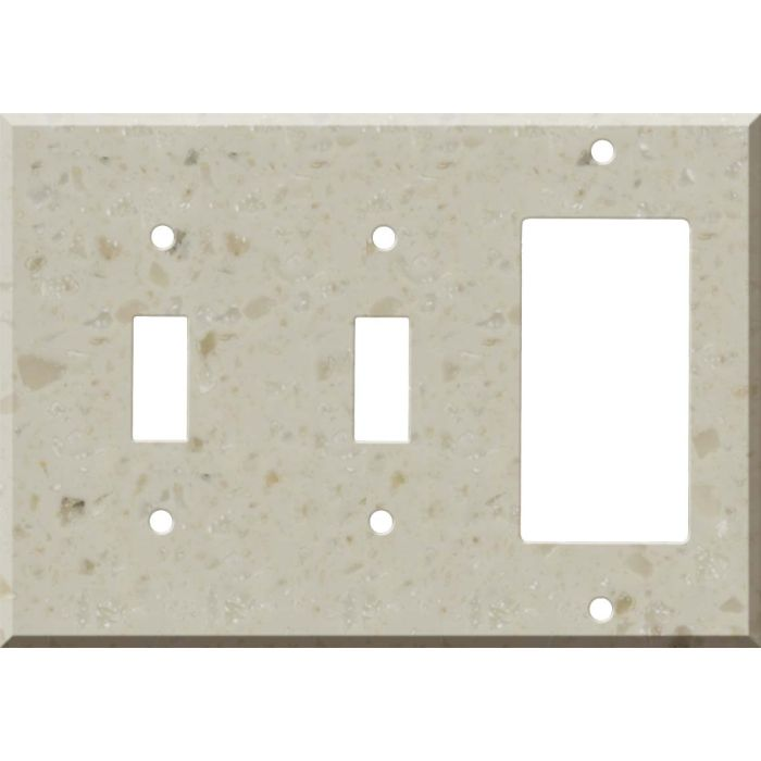 Corian Cottage Lane Double 2 Toggle / 1 GFCI Rocker Combo Switchplates
