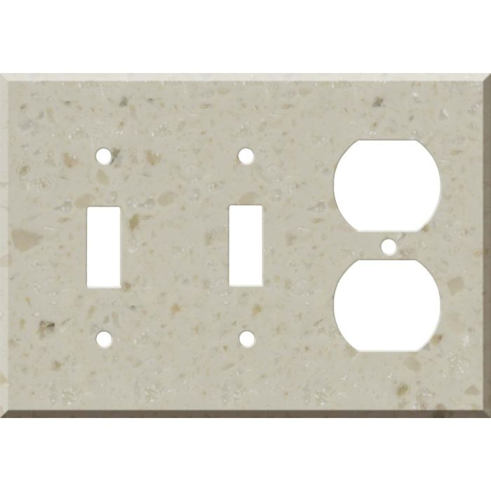 Corian Cottage Lane Double 2 Toggle / Outlet Combination Wall Plates