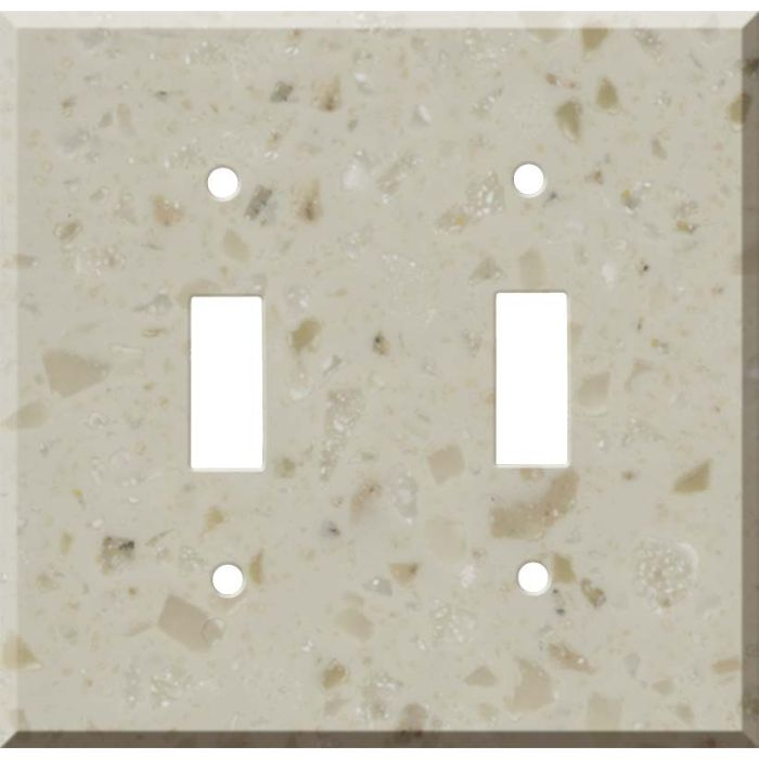 Corian Cottage Lane Double 2 Toggle Switch Plate Covers