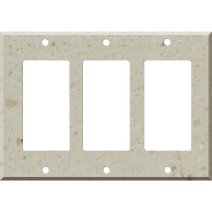 Corian Cottage Lane Triple 3 Rocker GFCI Decora Light Switch Covers