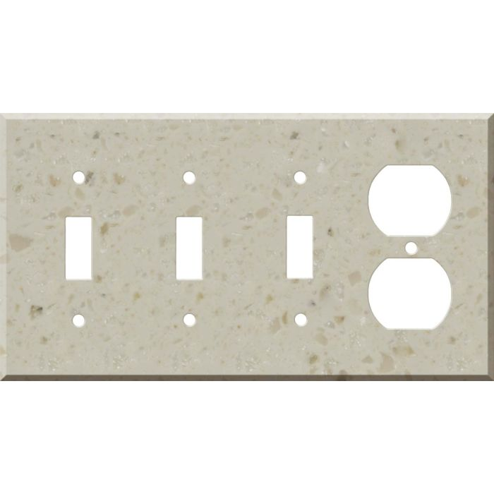 Corian Cottage Lane Combination Triple 3 Toggle / Outlet Wall Plate Covers