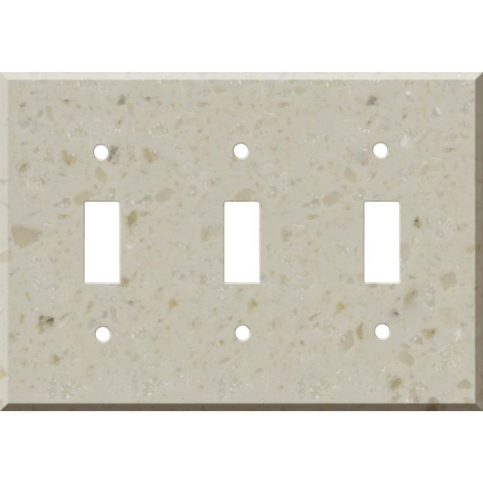 Corian Cottage Lane Triple 3 Toggle Light Switch Covers