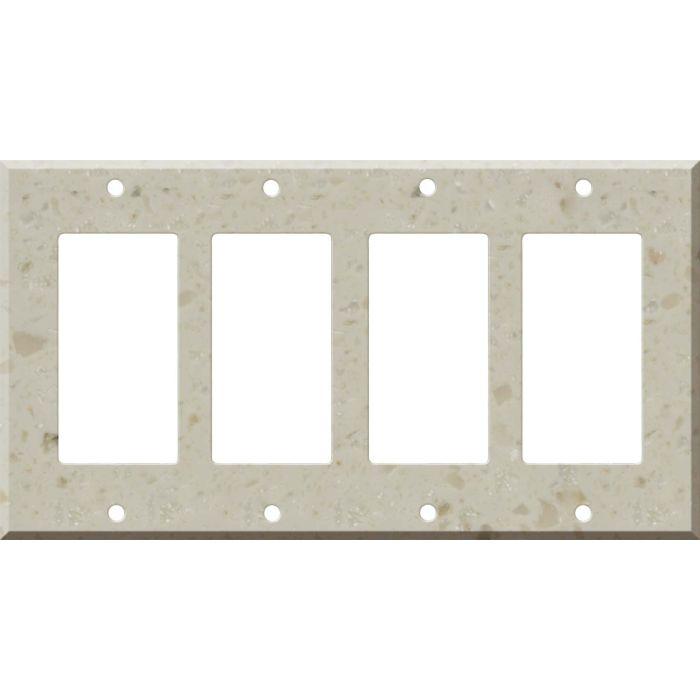 Corian Cottage Lane 4 Rocker GFCI Decorator Switch Plates
