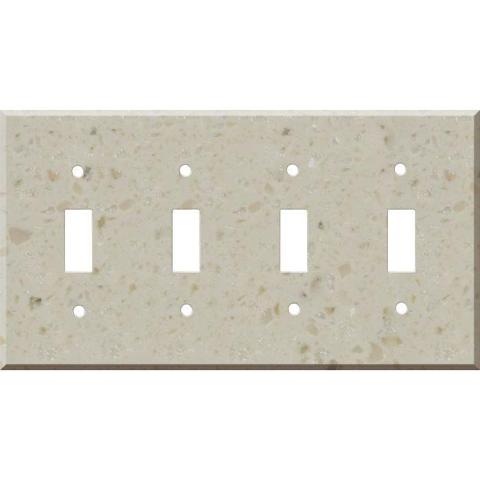 Corian Cottage Lane Quad 4 Toggle Light Switch Covers