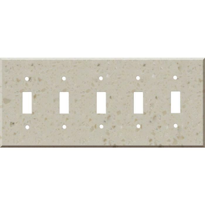 Corian Cottage Lane 5 Toggle Wall Switch Plates