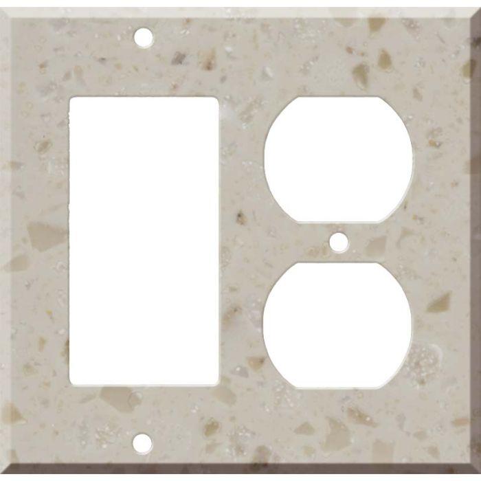 Corian Cottage Lane Combination GFCI Rocker / Duplex Outlet Wall Plates