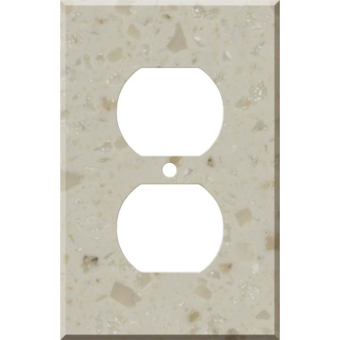Corian Cottage Lane 1 Gang Duplex Outlet Cover Wall Plate