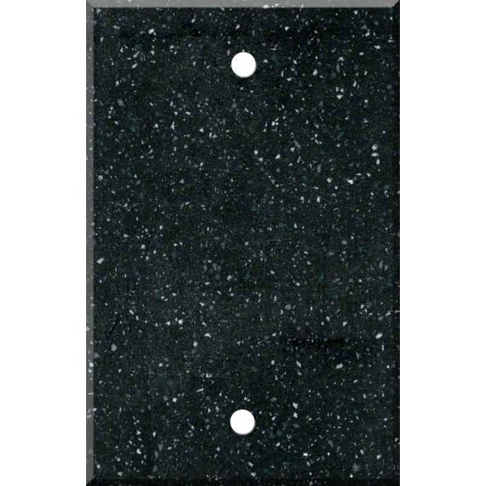 Corian Deep Black Quartz Blank Wall Plate Cover