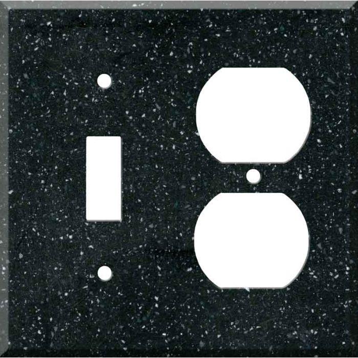Corian Deep Black Quartz Combination 1 Toggle / Outlet Cover Plates