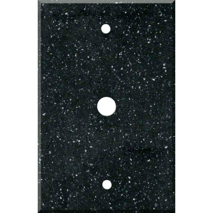 Corian Deep Black Quartz Coax Cable TV Wall Plates