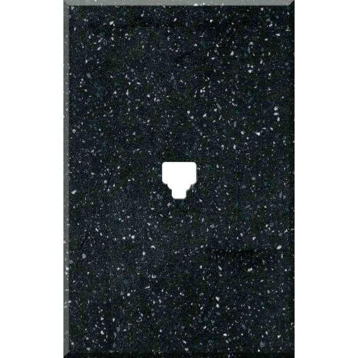 Corian Deep Black Quartz 1 Toggle Light Switch Cover
