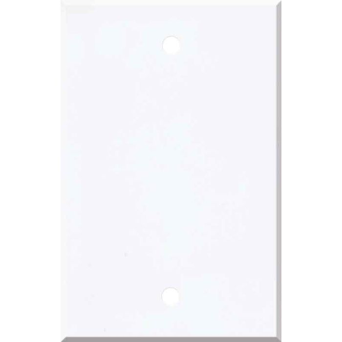 Corian Designer White Blank Wall Plate Cover