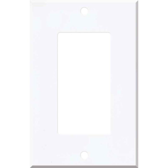 Corian Designer White Single 1 Gang GFCI Rocker Decora Switch Plate Cover