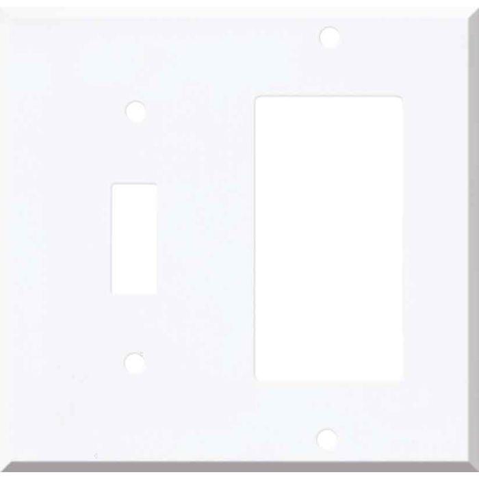 Corian Designer White Combination 1 Toggle / Rocker GFCI Switch Covers