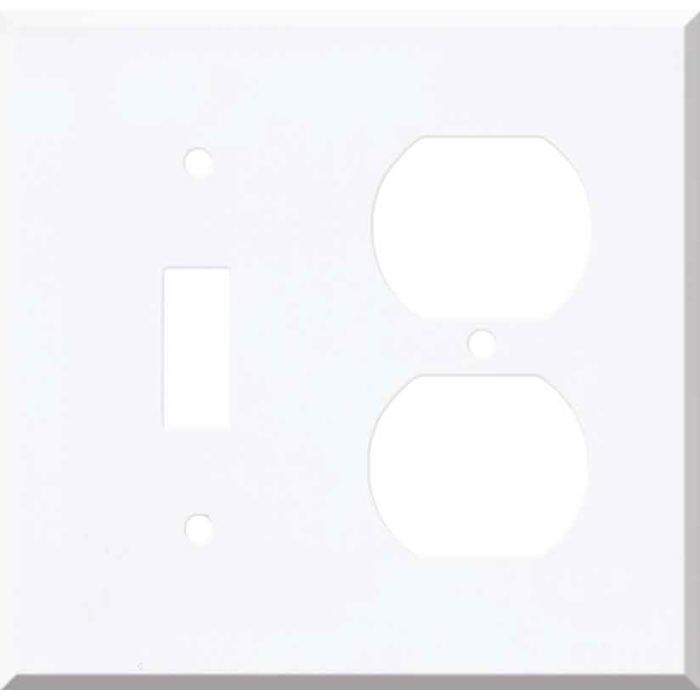 Corian Designer White Combination 1 Toggle / Outlet Cover Plates