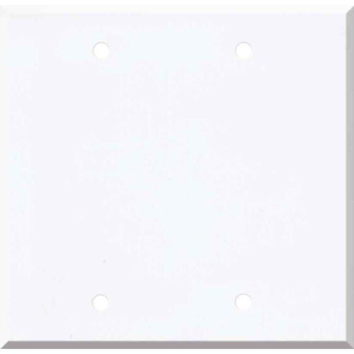 Corian Designer White Double Blank Wallplate Covers