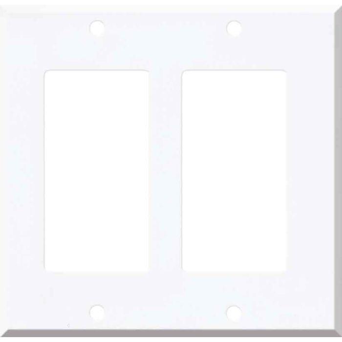 Corian Designer White 2 Gang Double GFCI Rocker Decorator Wallplates