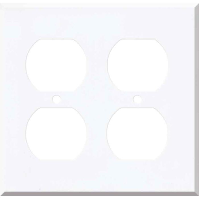 Corian Designer White 2 Gang Duplex Outlet Wall Plate Cover