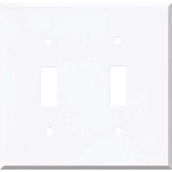 Corian Designer White Double 2 Toggle Switch Plate Covers