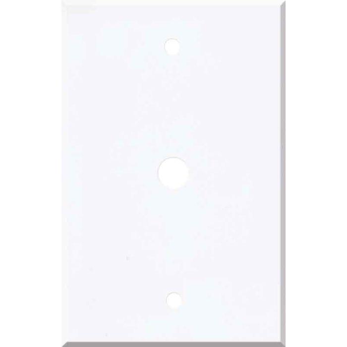 Corian Designer White Coax Cable TV Wall Plates
