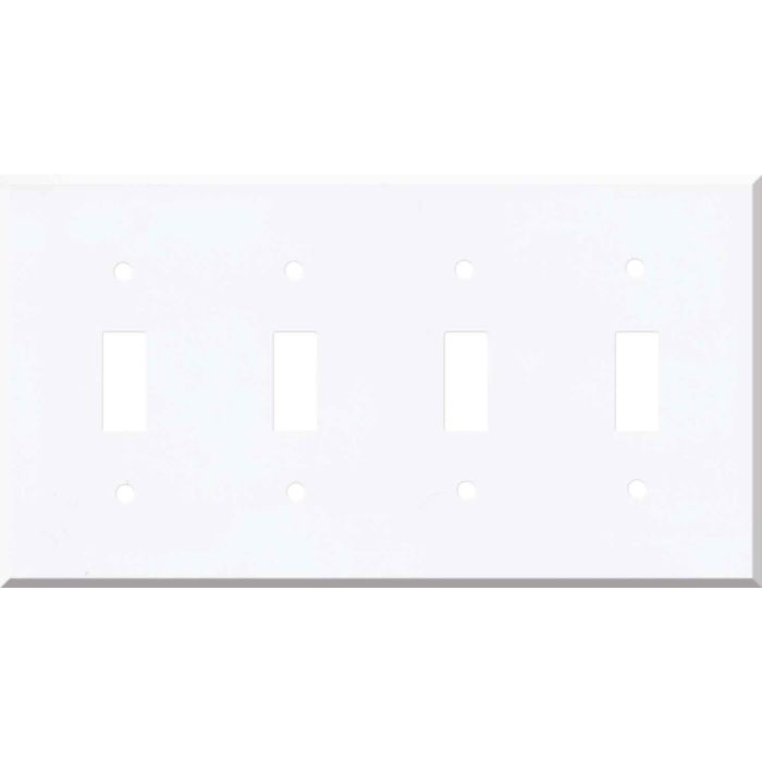 Corian Designer White Quad 4 Toggle Light Switch Covers