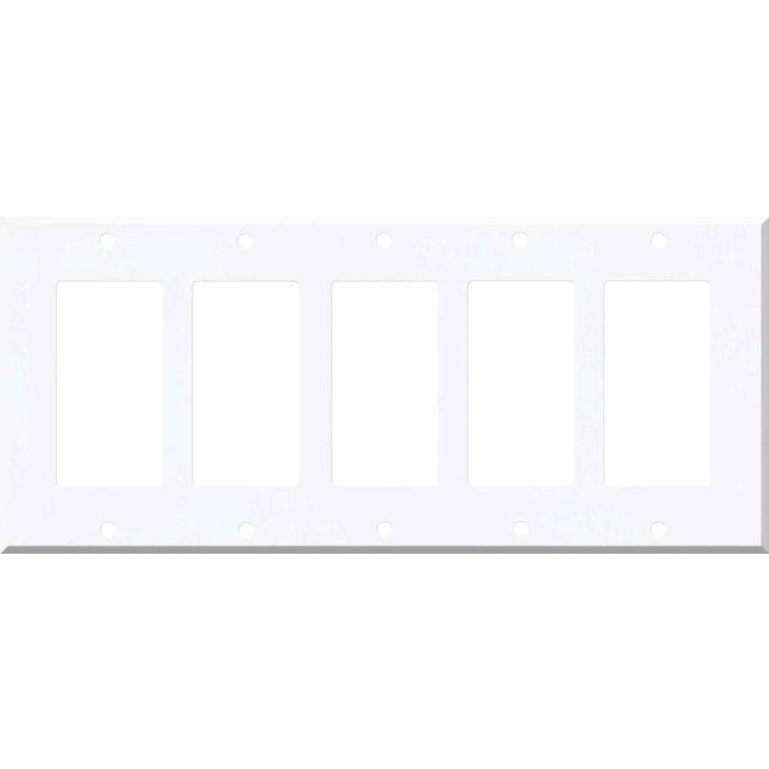 Corian Designer White 5 GFCI Rocker Decora Switch Covers