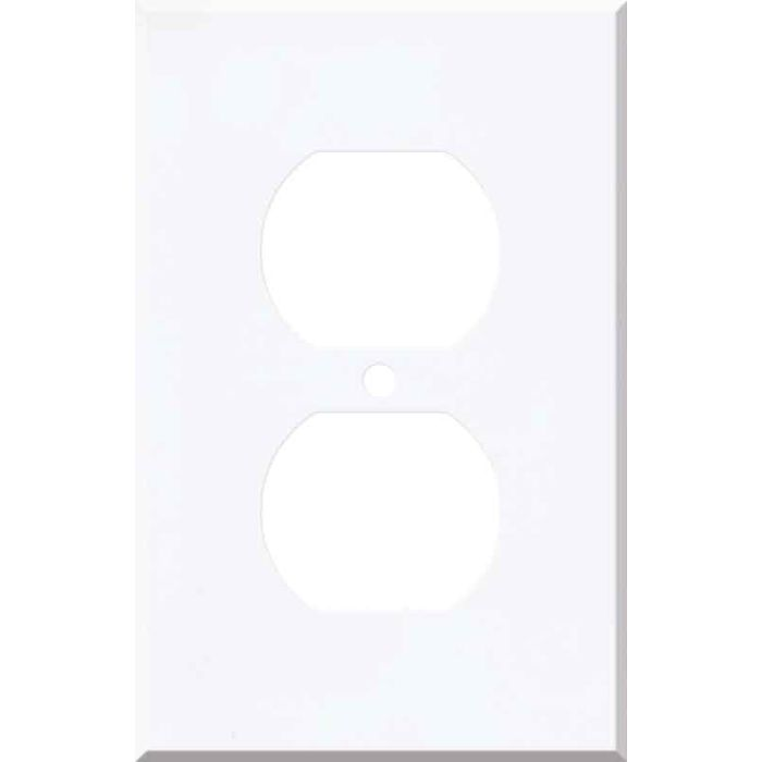 Corian Designer White 1 Gang Duplex Outlet Cover Wall Plate