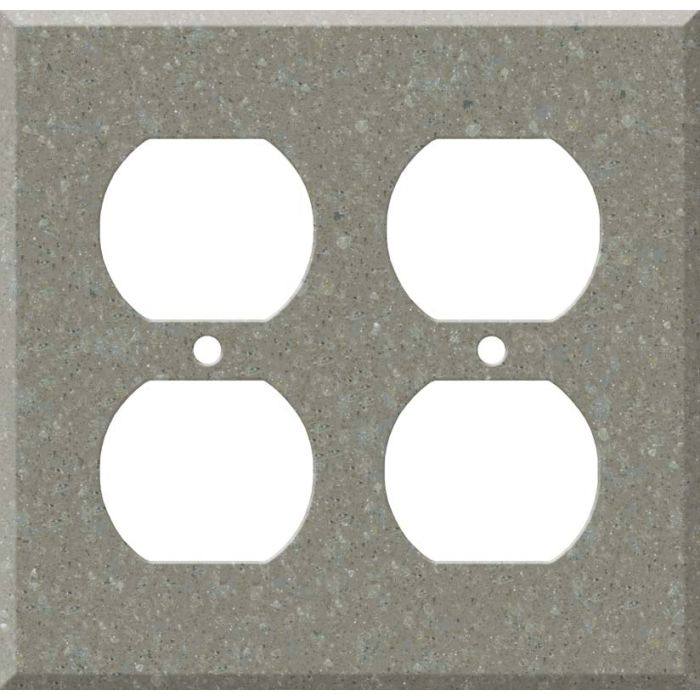 Corian Doeskin 2 Gang Duplex Outlet Wall Plate Cover