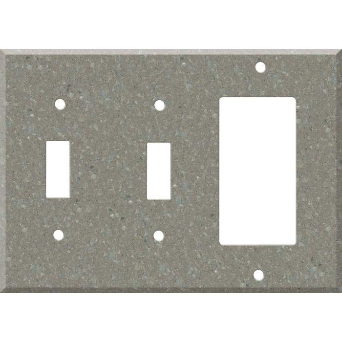 Corian Doeskin Double 2 Toggle / 1 GFCI Rocker Combo Switchplates