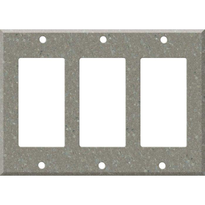 Corian Doeskin Triple 3 Rocker GFCI Decora Light Switch Covers