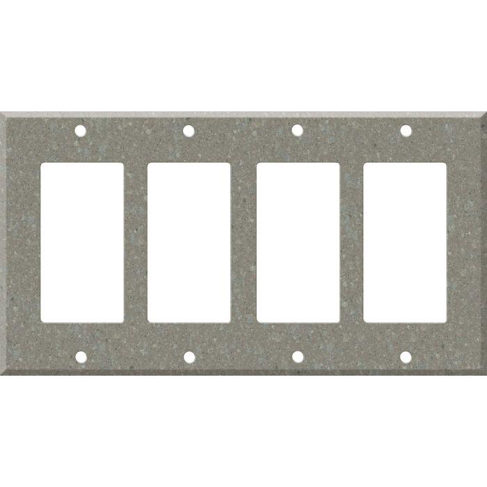 Corian Doeskin 4 Rocker GFCI Decorator Switch Plates