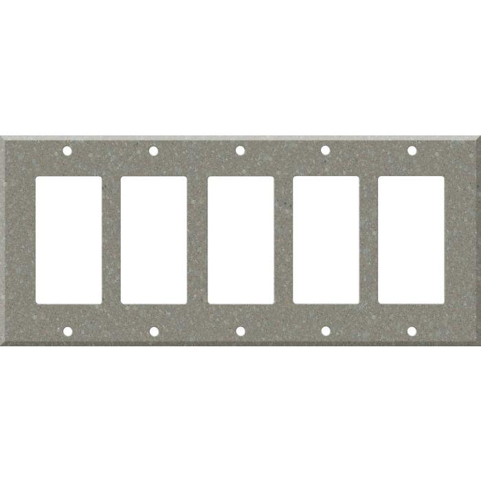 Corian Doeskin 5 GFCI Rocker Decora Switch Covers