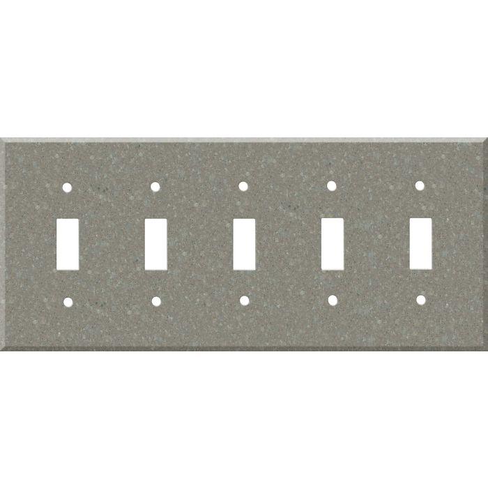 Corian Doeskin 5 Toggle Wall Switch Plates