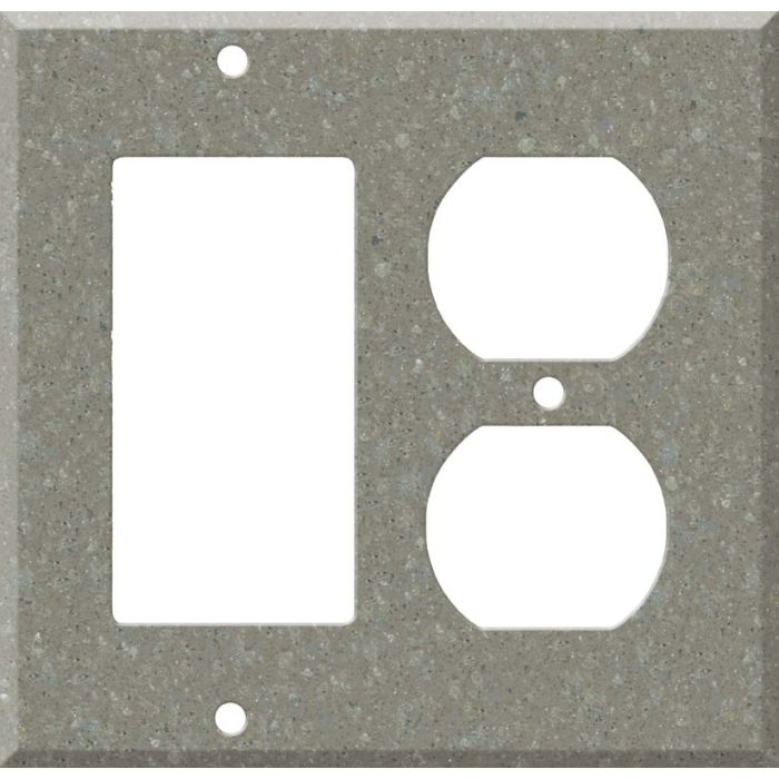 Corian Doeskin Combination GFCI Rocker / Duplex Outlet Wall Plates
