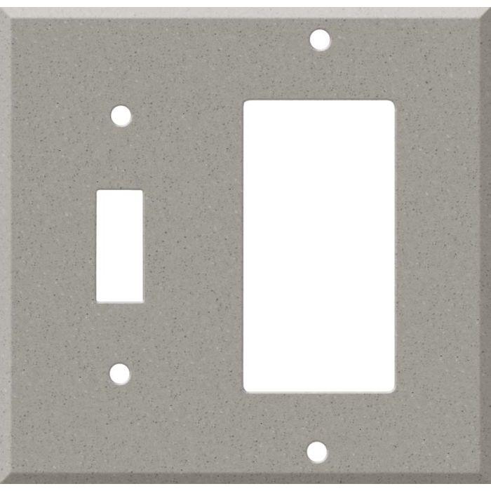 Corian Dove Combination 1 Toggle / Rocker GFCI Switch Covers