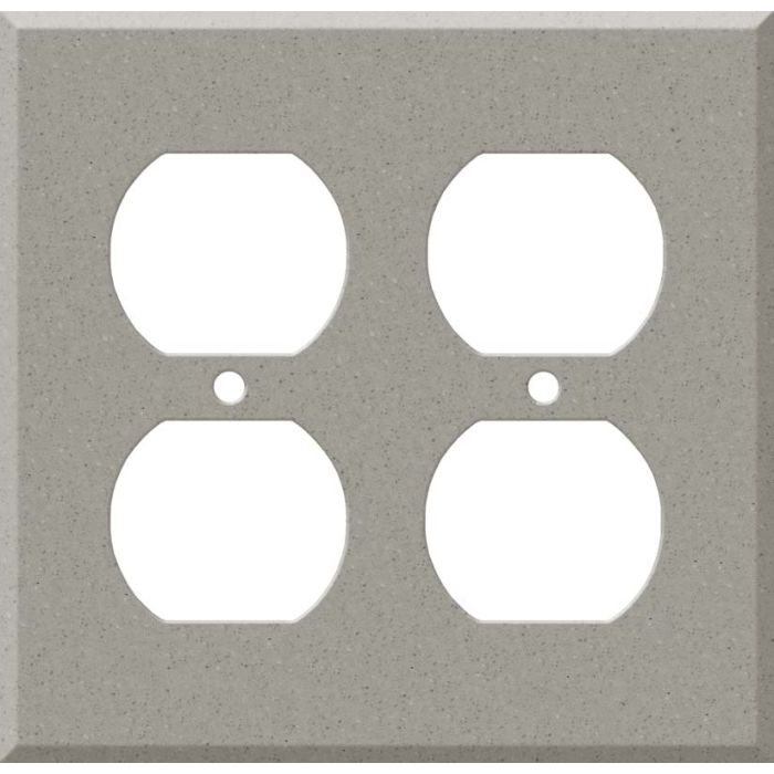 Corian Dove 2 Gang Duplex Outlet Wall Plate Cover